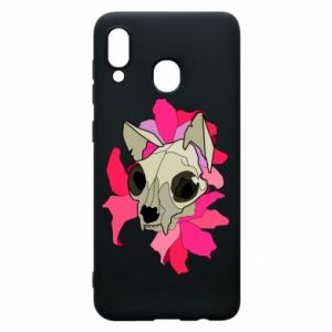 Phone case for Samsung A30 Skull of a cat - PrintSalon