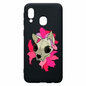 Phone case for Samsung A40 Skull of a cat - PrintSalon