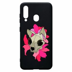 Phone case for Samsung A60 Skull of a cat - PrintSalon