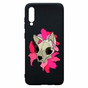 Phone case for Samsung A70 Skull of a cat - PrintSalon