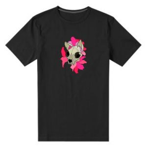 Men's premium t-shirt Skull of a cat