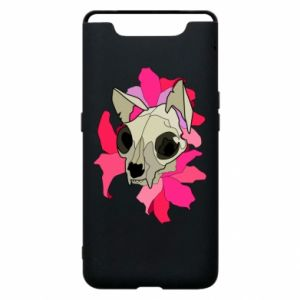 Phone case for Samsung A80 Skull of a cat - PrintSalon