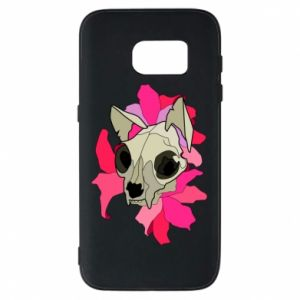 Phone case for Samsung S7 Skull of a cat - PrintSalon