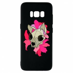 Phone case for Samsung S8 Skull of a cat - PrintSalon