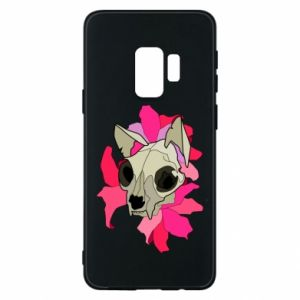 Phone case for Samsung S9 Skull of a cat - PrintSalon