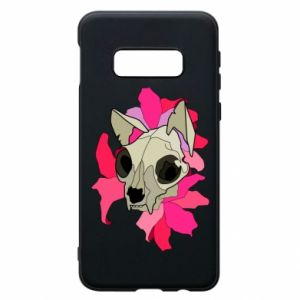 Phone case for Samsung S10e Skull of a cat - PrintSalon