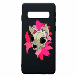 Phone case for Samsung S10 Skull of a cat - PrintSalon