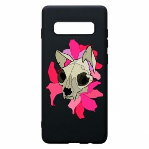 Phone case for Samsung S10+ Skull of a cat - PrintSalon