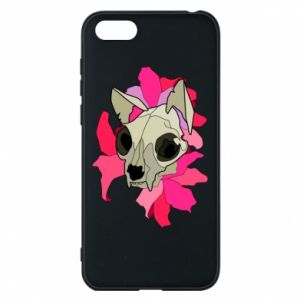 Phone case for Huawei Y5 2018 Skull of a cat - PrintSalon