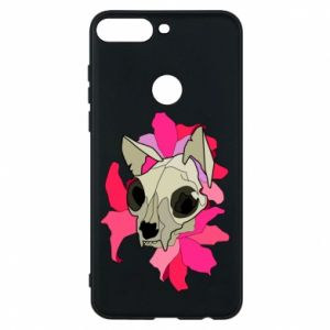 Phone case for Huawei Y7 Prime 2018 Skull of a cat