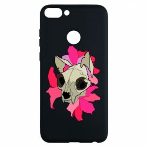 Phone case for Huawei P Smart Skull of a cat - PrintSalon