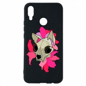 Phone case for Huawei P Smart Plus Skull of a cat - PrintSalon