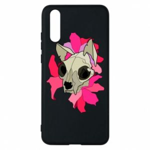 Phone case for Huawei P20 Skull of a cat - PrintSalon