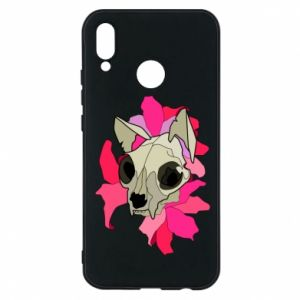 Phone case for Huawei P20 Lite Skull of a cat - PrintSalon