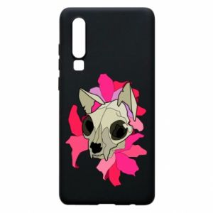Phone case for Huawei P30 Skull of a cat - PrintSalon