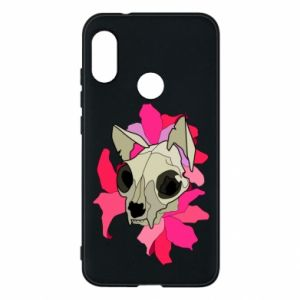 Phone case for Mi A2 Lite Skull of a cat - PrintSalon