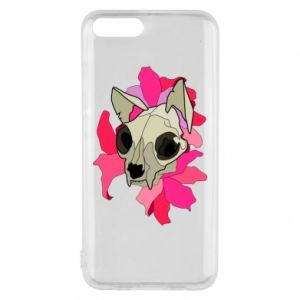 Phone case for Xiaomi Mi6 Skull of a cat - PrintSalon