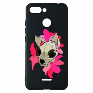Phone case for Xiaomi Redmi 6 Skull of a cat - PrintSalon