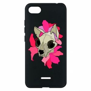 Phone case for Xiaomi Redmi 6A Skull of a cat - PrintSalon