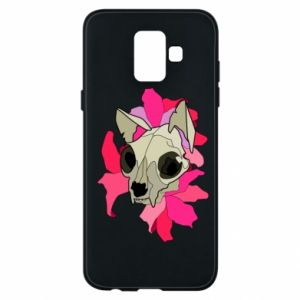 Phone case for Samsung A6 2018 Skull of a cat - PrintSalon