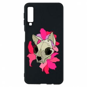 Phone case for Samsung A7 2018 Skull of a cat