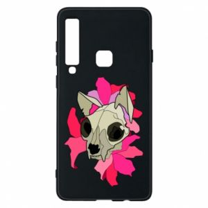 Phone case for Samsung A9 2018 Skull of a cat - PrintSalon