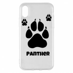 Phone case for iPhone X/Xs Panther trail - PrintSalon