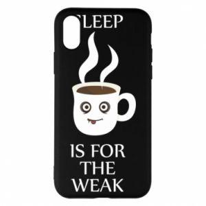 Etui na iPhone X/Xs Sleep is for the weak