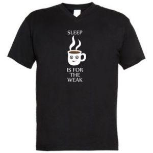 Men's V-neck t-shirt Sleep is for the weak
