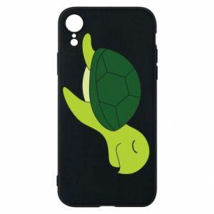Etui na iPhone XR Sleeping turtle