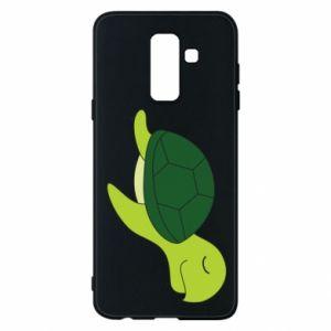 Phone case for Samsung A6+ 2018 Sleeping turtle - PrintSalon