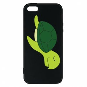 Phone case for iPhone 5/5S/SE Sleeping turtle - PrintSalon