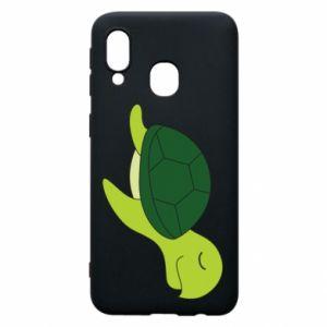 Etui na Samsung A40 Sleeping turtle