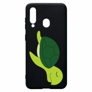 Phone case for Samsung A60 Sleeping turtle - PrintSalon