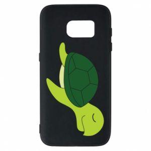 Phone case for Samsung S7 Sleeping turtle - PrintSalon