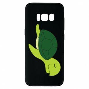 Phone case for Samsung S8 Sleeping turtle - PrintSalon