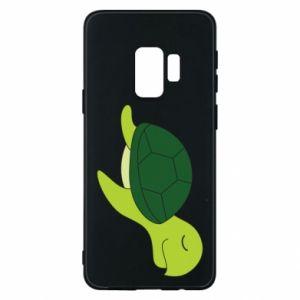 Phone case for Samsung S9 Sleeping turtle - PrintSalon