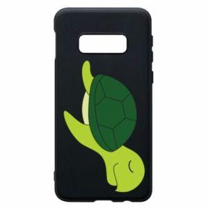 Phone case for Samsung S10e Sleeping turtle - PrintSalon