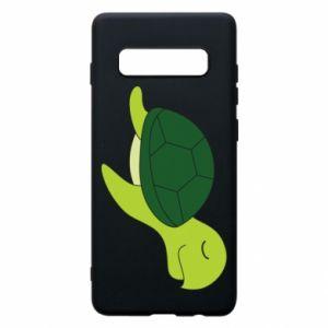 Phone case for Samsung S10+ Sleeping turtle - PrintSalon