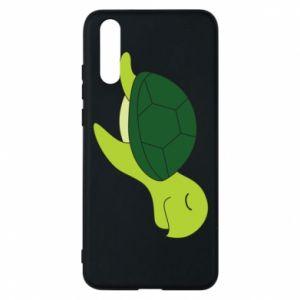Phone case for Huawei P20 Sleeping turtle - PrintSalon