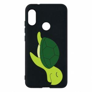 Phone case for Mi A2 Lite Sleeping turtle - PrintSalon