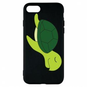 Phone case for iPhone 7 Sleeping turtle - PrintSalon