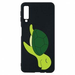 Phone case for Samsung A7 2018 Sleeping turtle - PrintSalon