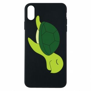 Etui na iPhone Xs Max Sleeping turtle