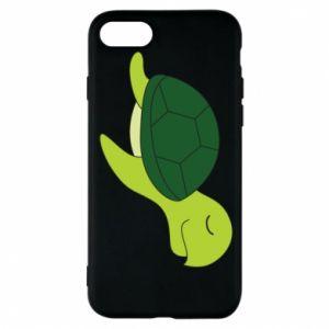 Phone case for iPhone 8 Sleeping turtle - PrintSalon