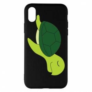 Phone case for iPhone X/Xs Sleeping turtle - PrintSalon