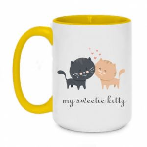 Two-toned mug 450ml Cute cats