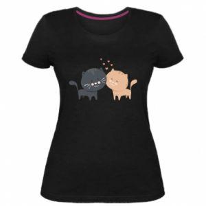 Women's premium t-shirt Cute cats
