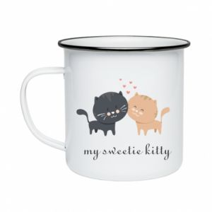 Enameled mug Cute cats