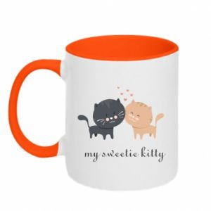 Two-toned mug Cute cats